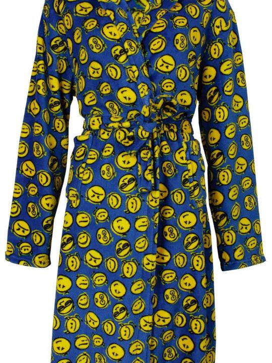 Kinderbadjas smiley van fleece stof
